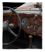 Jaguar Odtimer Steering Wheel Fleece Blanket