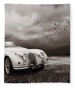 Jaguar Xk150 - Admiring The View Fleece Blanket