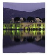 Jai Mahal Water Palace Fleece Blanket