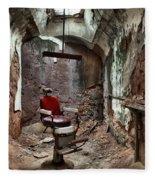 Jail Cell Barber Fleece Blanket