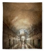 Jail - Eastern State Penitentiary - End Of A Journey Fleece Blanket