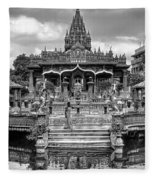 Jain Temple Monochrome Fleece Blanket