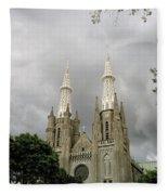 Jakarta Cathedral Indonesia Fleece Blanket