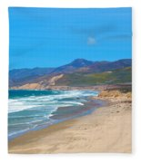 Jalama Beach Santa Barbara County California Fleece Blanket
