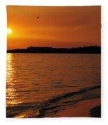 Jamaica Sunset Fleece Blanket