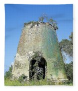 Jamaican Sugar Mill Fleece Blanket