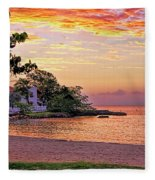 Jamaican Sunset Fleece Blanket