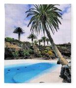 Jameos Del Agua On Lanzarote Fleece Blanket
