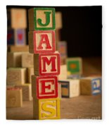 James - Alphabet Blocks Fleece Blanket