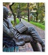 James Bradley Statue 9882 Fleece Blanket