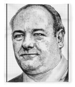 James Gandolfini In 2007 Fleece Blanket