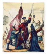 James IIi Lands In Scotland, 1715 Fleece Blanket