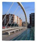 James Joyce Bridge In Dublin Fleece Blanket
