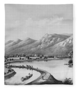James River Canal, 1857 Fleece Blanket