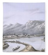 James River Canal Near The Mouth Fleece Blanket