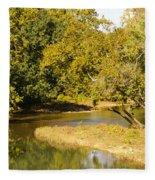 James River In The Fall Fleece Blanket