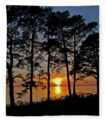 James River Sunset Fleece Blanket