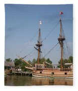 Jamestown Historic Sailingships Fleece Blanket