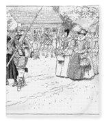 Jamestown Women, 1621 Fleece Blanket