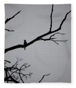 Jammer Bird Silhouette 1 Fleece Blanket