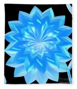 jammer Blue Shimmer Lotus Fleece Blanket