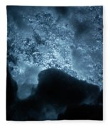 Jammer Deep Blue 002 Fleece Blanket
