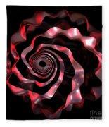 jammer Red Ribbon Fleece Blanket