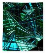 Jammer Swirling Emeralds  Fleece Blanket