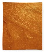 Jammer Tangerine Abstract Fleece Blanket