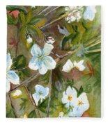 Jane's Apple Blossoms 1 Fleece Blanket