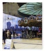 Jane's Carousel 2 In Dumbo - Brooklyn Fleece Blanket