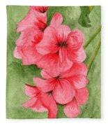 Jane's Flowers Fleece Blanket