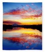 Jantzen Beach Sunrise Fleece Blanket