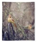 January Cardinals Fleece Blanket