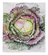 January King Cabbage  Fleece Blanket
