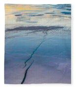 January Sunset On A Frozen Lake Fleece Blanket