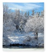 January Trees Fleece Blanket