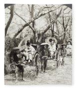 Japan Jinrikshas, 1907 Fleece Blanket