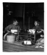 Japan Tea Party Fleece Blanket