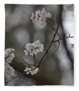 Japanese Cherry Blossoms Fleece Blanket