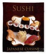 Japanese Cuisine Gallery Fleece Blanket