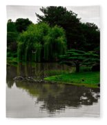 Japanese Garden Point Fleece Blanket