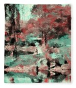 Japanese Garden's Fleece Blanket