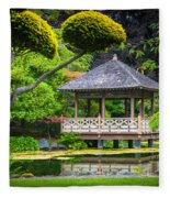 Japanese Gazebo Fleece Blanket