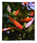 Japanese Koi Fish Fleece Blanket