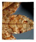 Japanese Maple Leaf Brown - 1 Fleece Blanket
