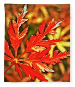 Japanese Maple Leaf  Fleece Blanket