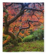 Japanese Maple Tree Fleece Blanket