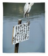Japanese Waterfowl - Kyoto Japan Fleece Blanket