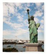 Japan's Statue Of Liberty Fleece Blanket